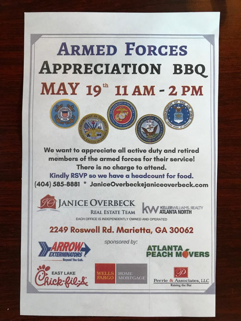 Armed Forces Appreciation Flyer