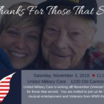 Banner for United Military Care - Giving Thanks for Those Who Served